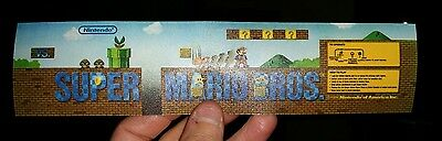 Super Mario Bros. marquee sticker. 2.25 x 9.75 Buy any 3 stickers, GET ONE FREE!