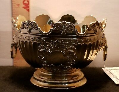 Crown Collection Silver Goblet  Antique Replicas TARNISH PROTECTED SILVERPLATE