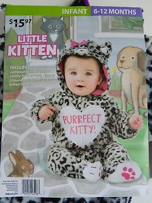Baby Halloween NEW 1-piece Costume LITTLE KITTEN infant 6-12 months