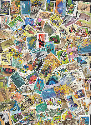 150 Different Australian Birds and Animals stamps