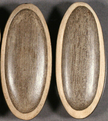 NICELY CRAFTED LIGHTWEIGHT CASSIA & CHEESEWOOD OVAL FOCAL BEADS 45x20MM (2)