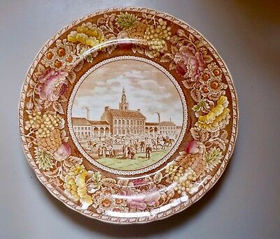 B & D Historical Staffordshire Plate Independence Hall Philadelphia 1905-10