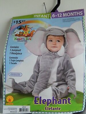 Baby Halloween NEW 2-piece Costume ELEPHANT Noah's Ark, infant 6-12 months