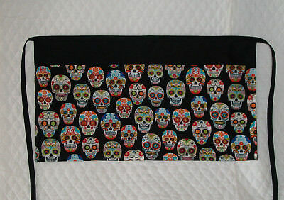 Waitress/Server Apron Multi Sugar Skull Design