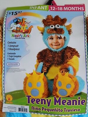 Baby Halloween NEW 2-piece Costume TEENY MEANIE Noah's Ark infant 12-18 months