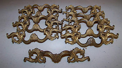 Group of 12 Antique Solid Brass Pulls- Nice Lot!