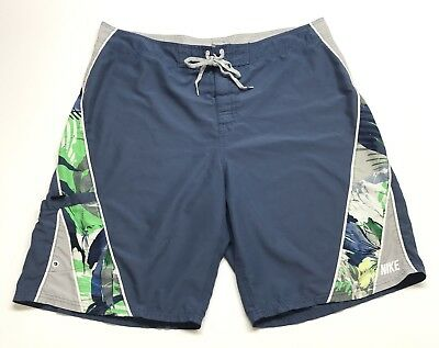 e155505f85 Men's Vintage Nike Swim Trunks Size 38 XL Blue Floral Board shorts Swim  Wear VTG