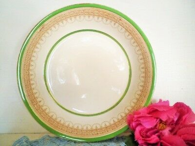 ANTIQUE SOUP BOWL GREEN GOLD BURLEIGH WARE BURGESS & LEIGH CEREAL BOWL see MORE