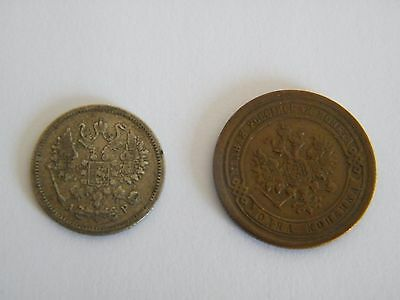 Russia Kopec Coins: 1891 and 1902