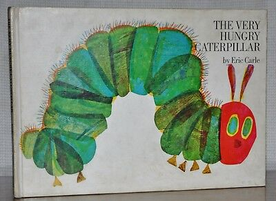 THE VERY HUNGRY CATERPILLAR ~TRUE FIRST Edition, FIRST Printing 1969 ~ERIC CARLE