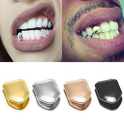 14K Gold Plated Single Tooth FANG Grill Cap Canine Teeth Hip Hop Custom GRILLZ