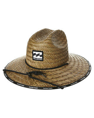 New Billabong Men's Waves Straw Hat Brown