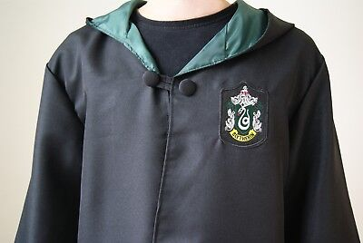 Harry Potter Slytherin Adult Robe Cloak Dress Cosplay Halloween Party Size S