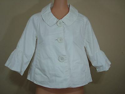N10 Womens Motherhood white maternity blazer white M medium button front