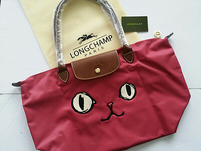 Authentic Longchamp - Le Pliage tote bag ( Miaou Pink Size L )