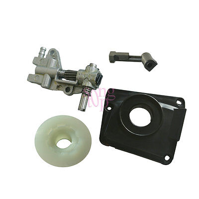 Oil Pump Oil Pump Cover & Pipe For Chinese 4500 5200 5200 45cc 52cc Chainsaw