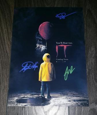 "It Remake Cast X3 Pp Signed Photo Poster 12""x8"" A4 Stephen King Bill Skarsgard"