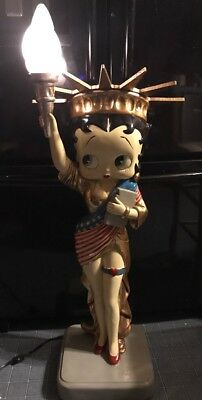 """2002 Betty Boop Statue Of Liberty King Features 40"""" Tall Lamp Limited Edition"""