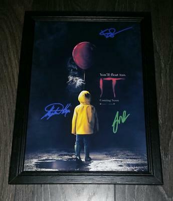 "It Remake Pp Signed & Framed A4 12X8"" Photo Poster Bill Skarsgard Pennywise"