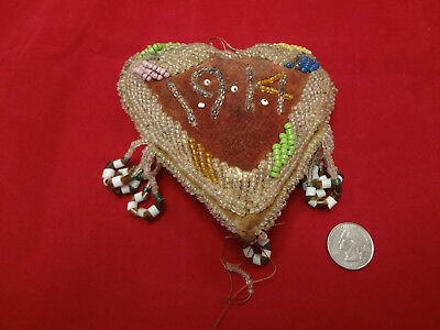 Antique 1914 Native American Beaded Pin Cushion