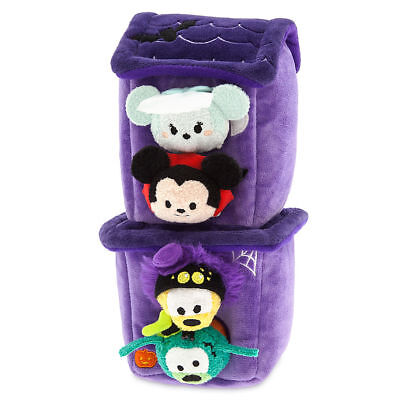 Tsum Tsum Haunted House Plush Set With 4 Mickey Mouse & Friends Micros 2 1/2''