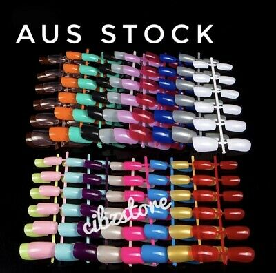 Artificial Nails French Long Fake Nail ART Tips Manicure Glue on ASSORTED COLORS