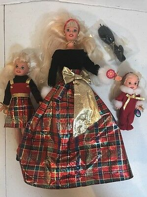 Barbie Holiday Sisters Special Edition Gift Set Kelly Stacie No Box