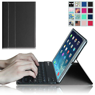 For Apple iPad Air 2 (2014) Case Cover Stand with Wireless Bluetooth Keyboard