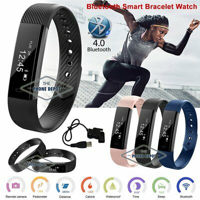 Waterproof Smart Bracelet Wrist Watch Fitness Tracker ID115 For iPhone Android