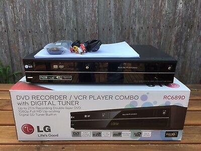 Serviced LG RC689 Combo VCR + DVD Recorder Video Player Copy DUB VHS