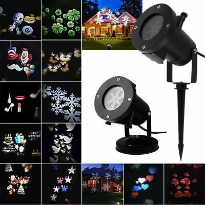 12 Patterns Laser Landscape Projector LED Lights Halloween Xmas Party Decor Lamp