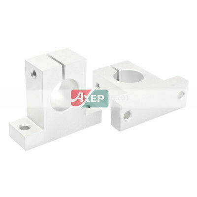 2xSK8 SC8UU 8mm  Linear Rail  Shaft Support F XYZ Table CNC Router Milling YG