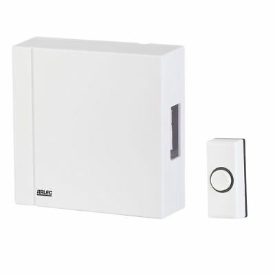 Arlec Small Wired Door Chime - Easy Install - Ding-Dong Sound - White