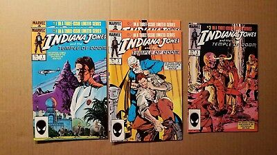 INDIANA JONES AND THE TEMPLE OF DOOM, 1-3, MULTIPLE COPIES (Sep 1984, Marvel)