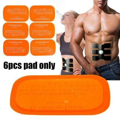 Best 6PCS Replacement Gel Sheet Pad for Muscle Training Gear ABS Body Fitness EW
