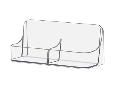 Qty 10 acrylic vertical business card holder stand display wholesale 10 clear acrylic two pocket vertical business card holder display stands colourmoves