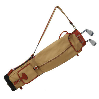 Tourbon Golf Club Bag Carry Ball Travel Case Pocket Pencil Style Canvas in AU