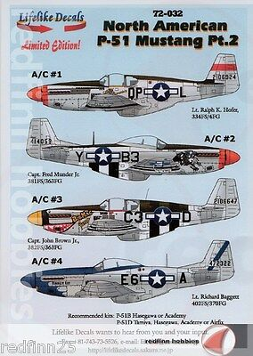 Lifelike Decals North American P-51 Mustang Part 2 1/72 decals