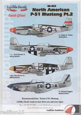 Lifelike Decals North American P-51 Mustang Part 2 1/48 decals