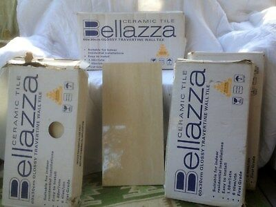 Ceramic tiles/ Glossy Travertine Wall tiles by BELLAZZA. Indoors