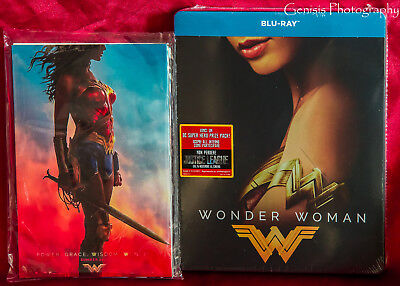Wonder Woman Exclusive Limited Edition Blu-ray Steelbook + Marvel Art Cards