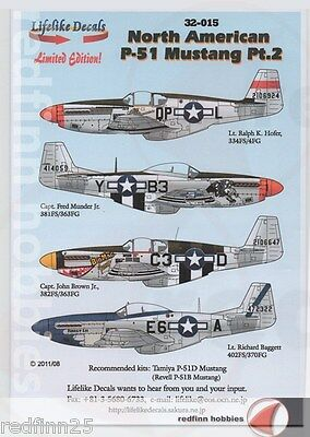 Lifelike Decals North American P-51 Mustang Part 2 1/32 decals