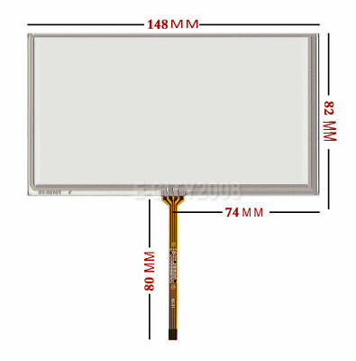 """6.1inch Resistive Touch screen Digitizer glass For GPS A061VW01 V0 6.1"""" 149*83mm"""