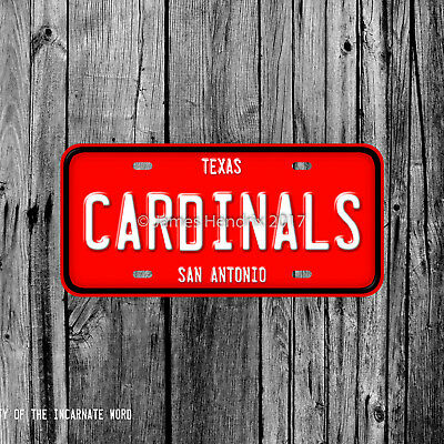 University of the Incarnate Word Cardinals San Antonio Texas License Plate