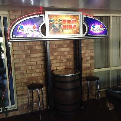Game Zone Bar Light On Metal Stands Man Cave. Rare Find!!