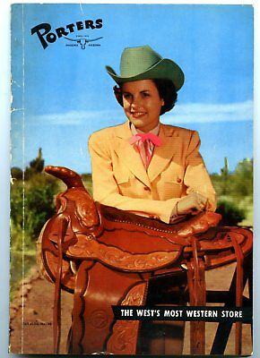 N. Porter Saddle and Harness Catalog 1945 Cowgirl Western Wear Very Rare