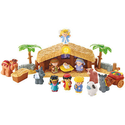 Kids Toy Little People Christmas Story Nativity Includes 12 Figures Ages 1+ NEW