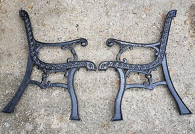 cast iron bench seat ends garden furniture decor old