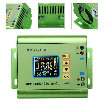 MPT-7210A LCD Display MPPT Solar Panel Charge Controller 24/36/48/60/72V Boost