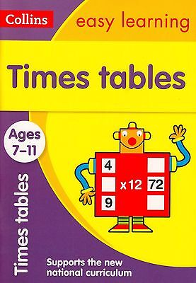 Collins Easy Learning Times Tables Ages 7-11 BRAND NEW BOOK (Paperback 2015)